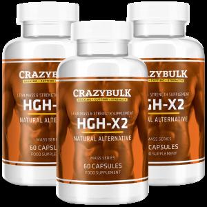 3 garrafas de HGH-X2