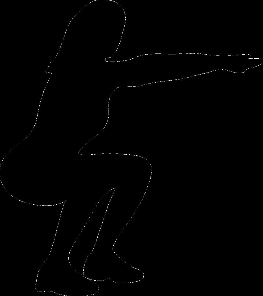 Postura de um agachamento sem halteres